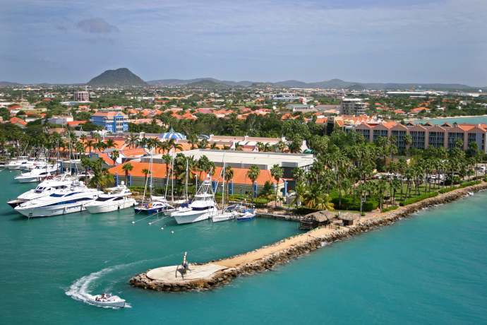 Oranjestad is the largest and capital city of Aruba.