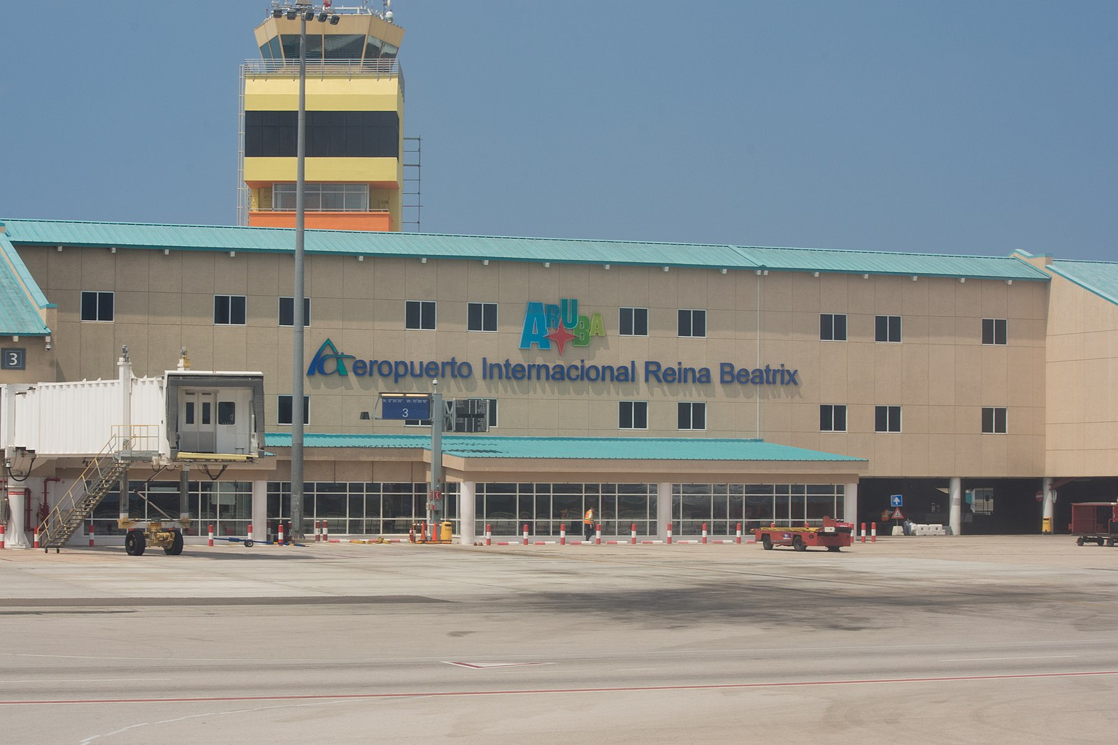 Queen Beatrix International Airport serves Aruba island in the Dutch Caribbean.
